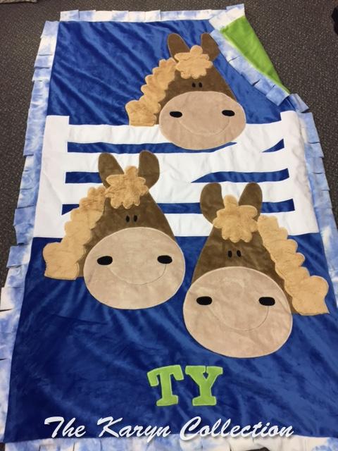 Ty's Horse Toddler Blanket