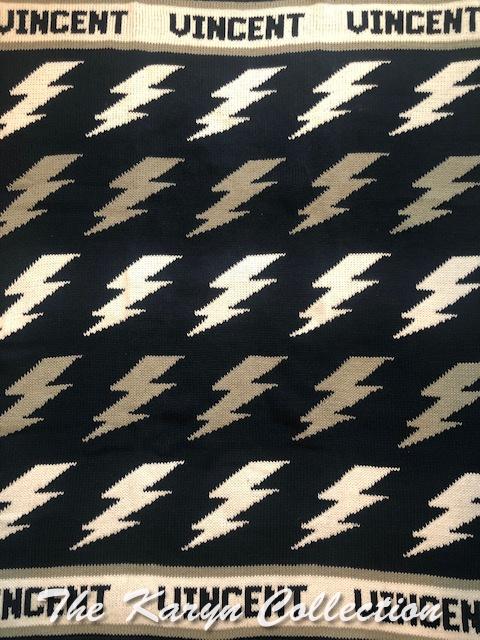 *EXCLUSIVELY OURS - Vincent's Lightningbolt Cotton Blanket