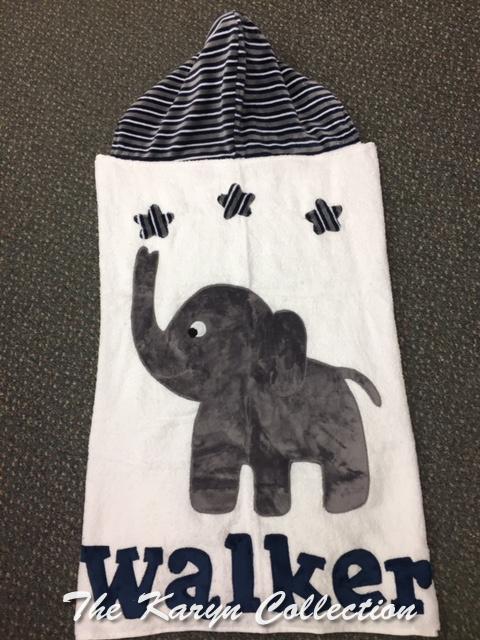 Walker's Elephant Toddler Hooded Towel