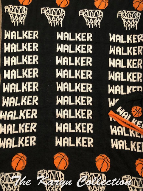 *EXCLUSIVELY OURS - Walker's Basketball Cotton Blanket (with optional hat)