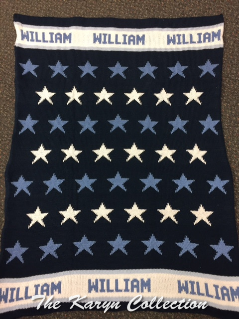 *EXCLUSIVELY OURS..WILLIAM'S ALL COTTON ALL STAR  STROLLER BLANKET