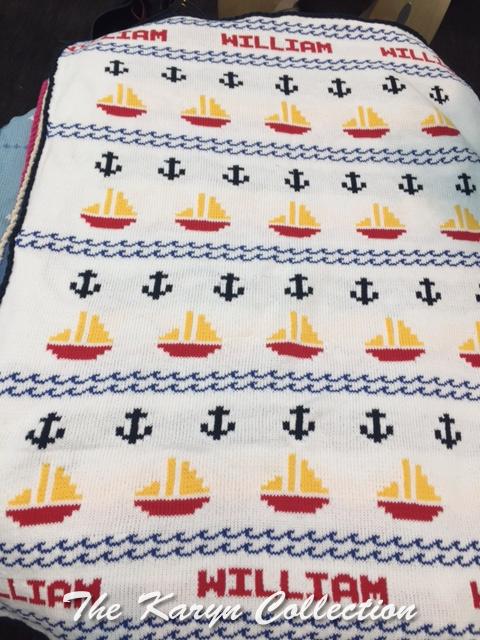 William's Nautical COTTON CRIB Blanket