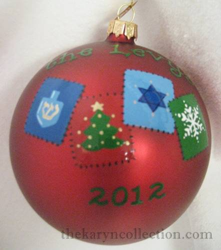 Hand Painted Christmas / Hanukkah Ornament