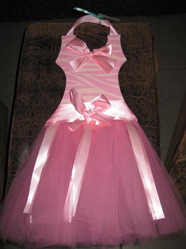 Tutu Pink Zebra Ballerina Barrette Holder
