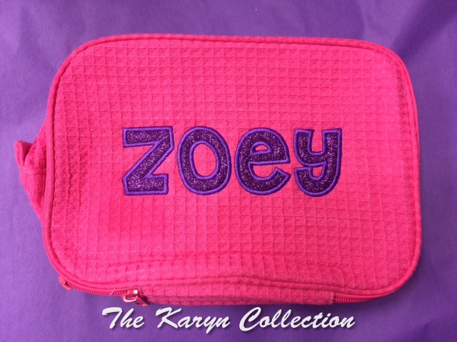 Zoey's Purple Glitter Dopp Kit
